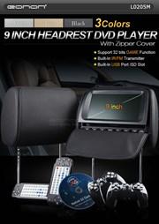 9 inch zwarte hoofdsteunen met DVD speler