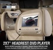 7 inch hoofdsteunen met dvd speler