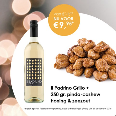 Il Padrino Grillo + 250 gr. pinda-cashew honing & zeezout