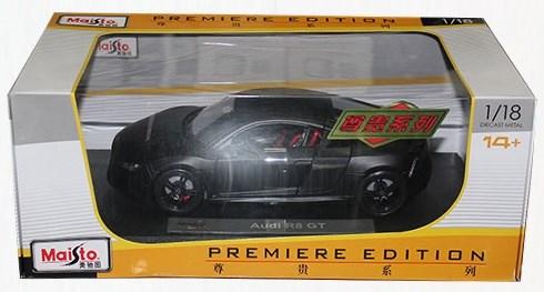 AUDI R8 GT3 mat zwart 1/18